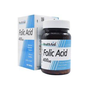قرص فولیک اسید ۴۰۰ میکروگرم هلث اید